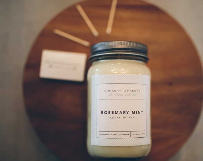 Rosemary Mint Soy Candles