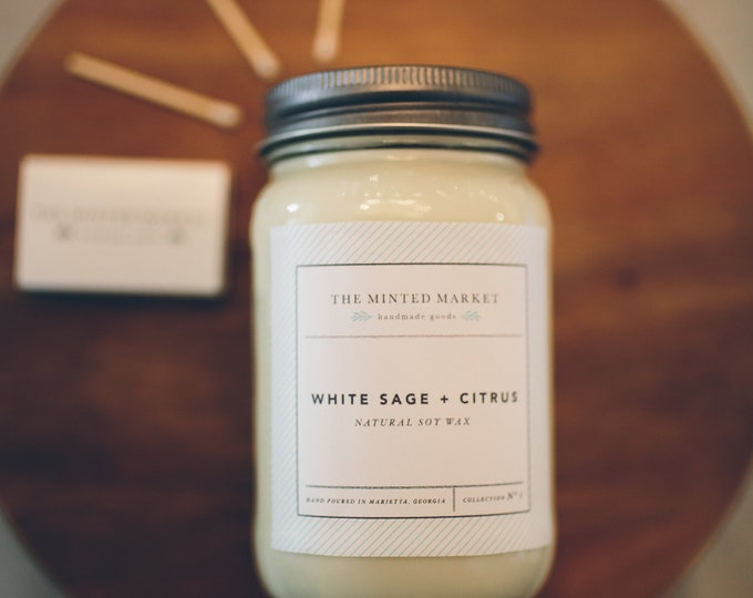 White Sage + Citrus Soy Candles