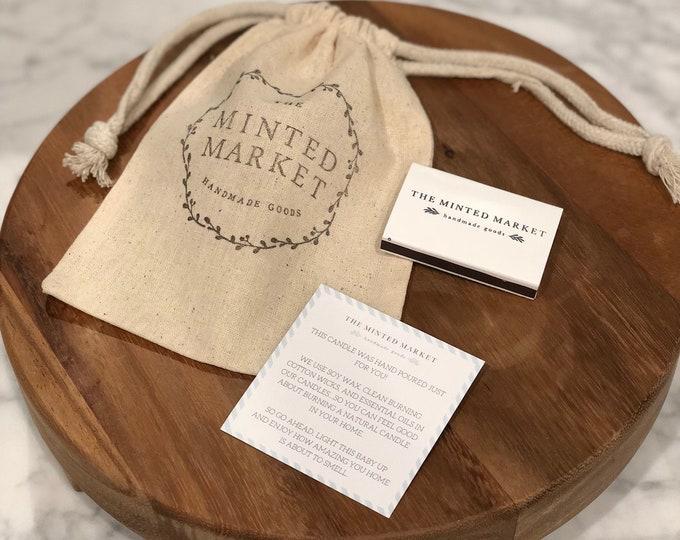 Muslin Stamped Gift Bag
