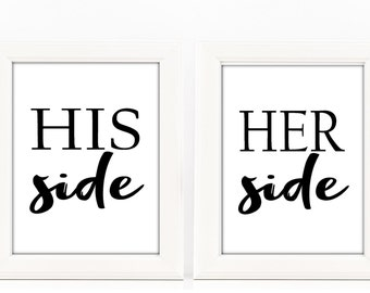 Copriletto Her Side His Side.His Side Her Side Etsy