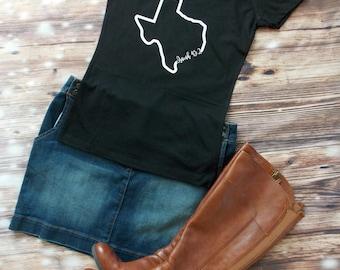 Texas Isaiah 43:2 - Bible Verse State Shirt, Custom the Bible Verse, Texas Bible State Shirt