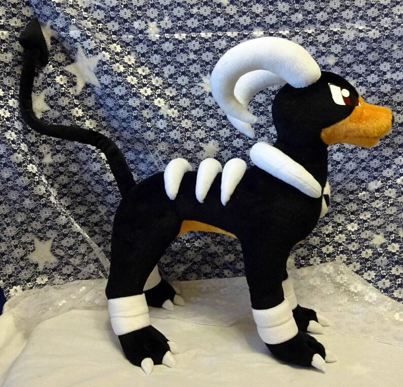 regular or shiny customizations ok! made of minky Pokemon inspired large size Houndoom plush made-to-order