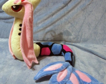 Pokemon inspired Milotic Milokaross (110 cm long) plushie made of minky, posable and super cuddly!