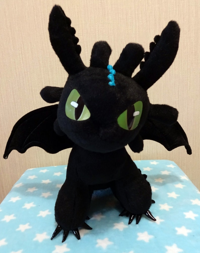 How To Train Your Dragon Inspired Sitting Alpha Mode Toothless Etsy