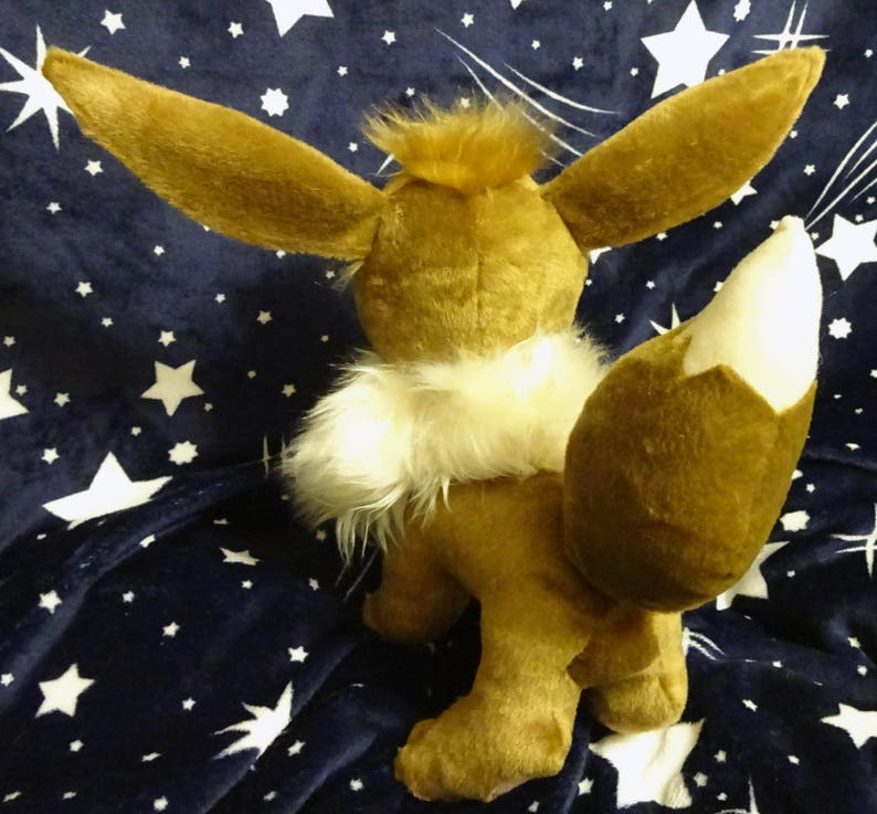 Pokemon inspired life size Eevee plush (~35 cm tall) plushie made of minky  and faux fur, very cuddly!