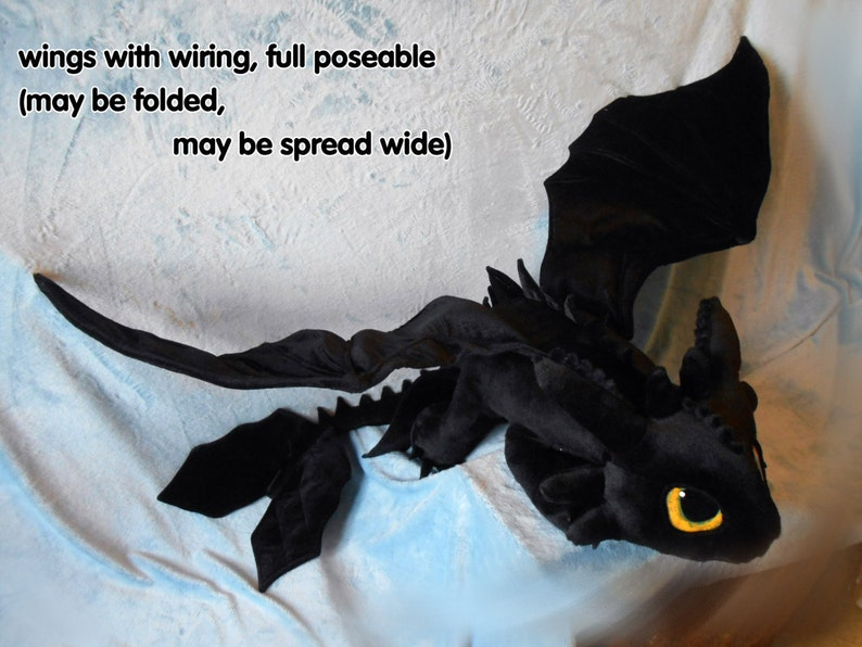 70b34d20e6a How to Train Your Dragon inspired Toothless the Night Fury