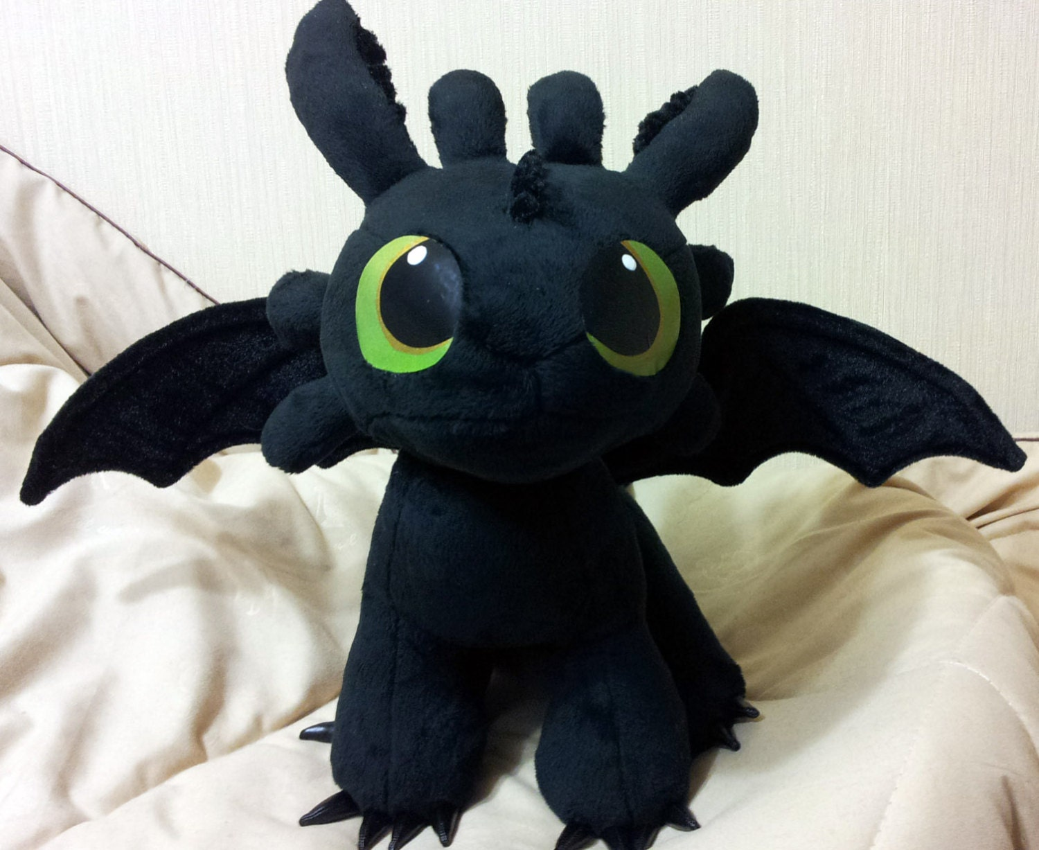 How To Train Your Dragon Inspired Sitting Toothless The Night Etsy