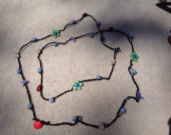 crocheted bracelet or necklace