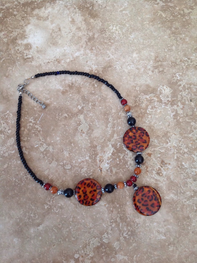 Autumn leopard necklace FREE SHIPPING