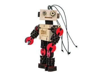 DAVI - Wooden Robot Kit (Color)