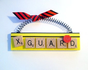 Crossing Guard Scrabble Tile Ornament