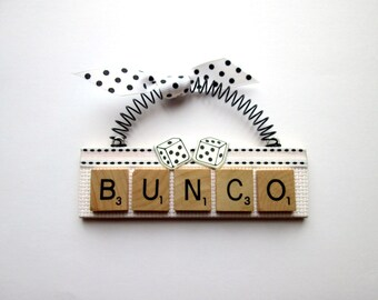 Bunco Scrabble Tile Ornament
