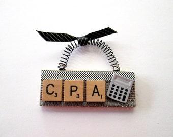 CPA Accountant Scrabble Tile Ornament