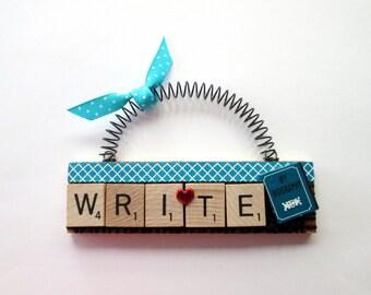 Love to Write Scrabble Tile Ornament