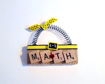 Math Scrabble Tile Ornament