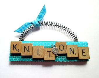 Knitting Knit One Scrabble Tile Ornament