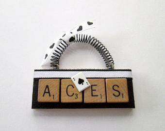 Aces Scrabble Tile Ornament