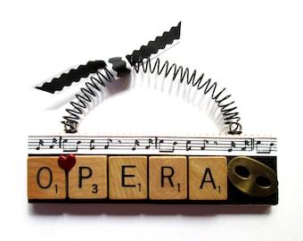Opera Scrabble Tile Ornament