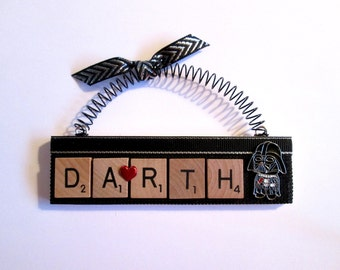 Darth Vader Scrabble Tile Ornament