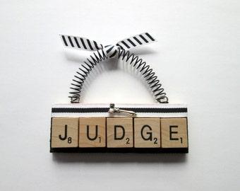 Judge Court Scrabble Tile Ornament