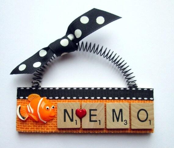 Love Nemo Scrabble Tile Ornament