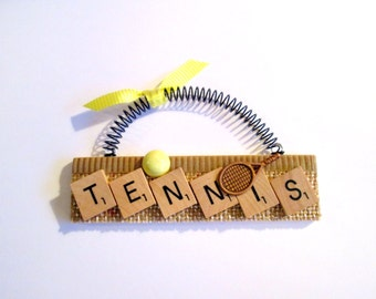Tennis Scrabble Tile Ornament