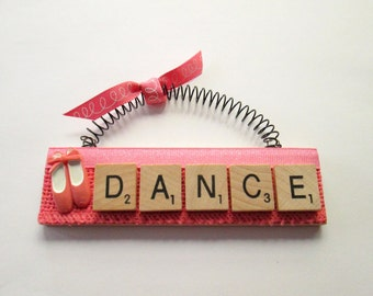 Dance Ballet Shoes Scrabble Tile Ornaments