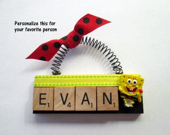 Sponge Bob Scrabble Tile Ornament