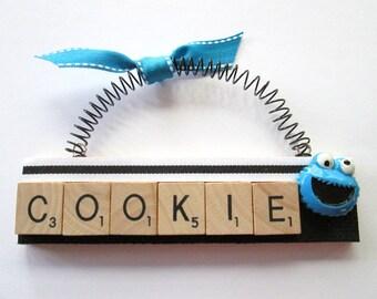Cookie Monster Sesame Street Scrabble Tile Ornament