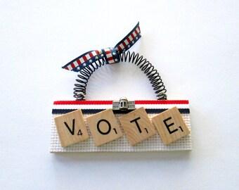 Vote Scrabble Tile Ornament