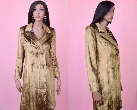 80s Vintage Trench Coat - Luxury Velvet Coat - Oli