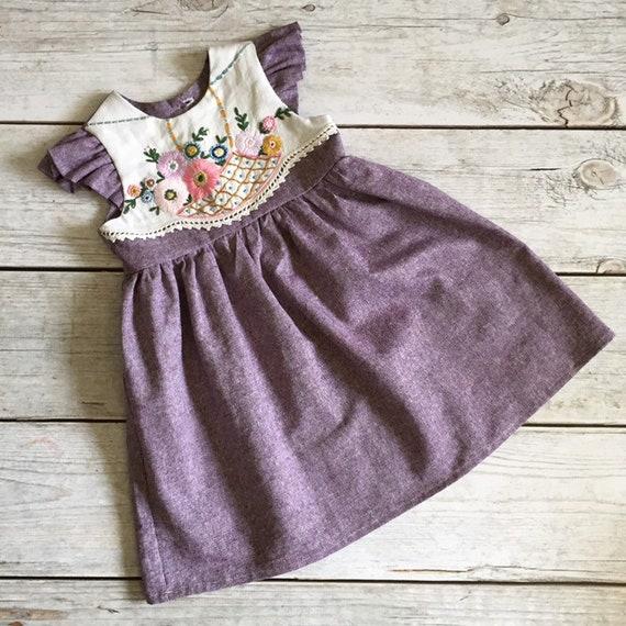 a072ef8049 3THoliday Dress Lavendar Linen Dress Vintage Style Dress