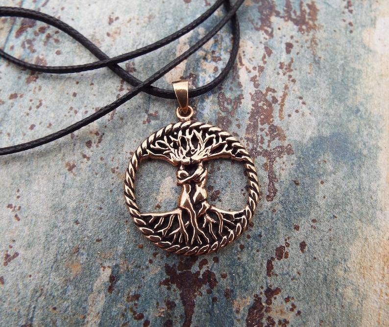89ea62d8715b2 Tree of Life Love Pendant Handmade Celtic Copper Necklace Jewelry Valentine