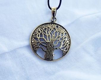 Tree of Life Pendant Handmade Bronze Necklace Jewelry