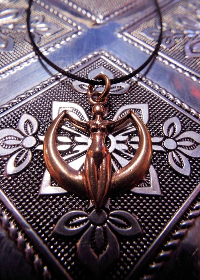 Astra Godess Pendant Astraea Star Maiden Goddess Handmade Etsy