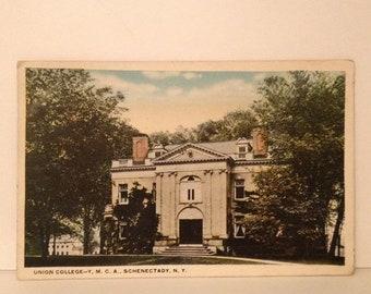 cc446b0bb6f ON SALE 1923 Schenectady New York NY Union College Ymca -- Old Vintage  Souvenir Postcard -- 1920 s