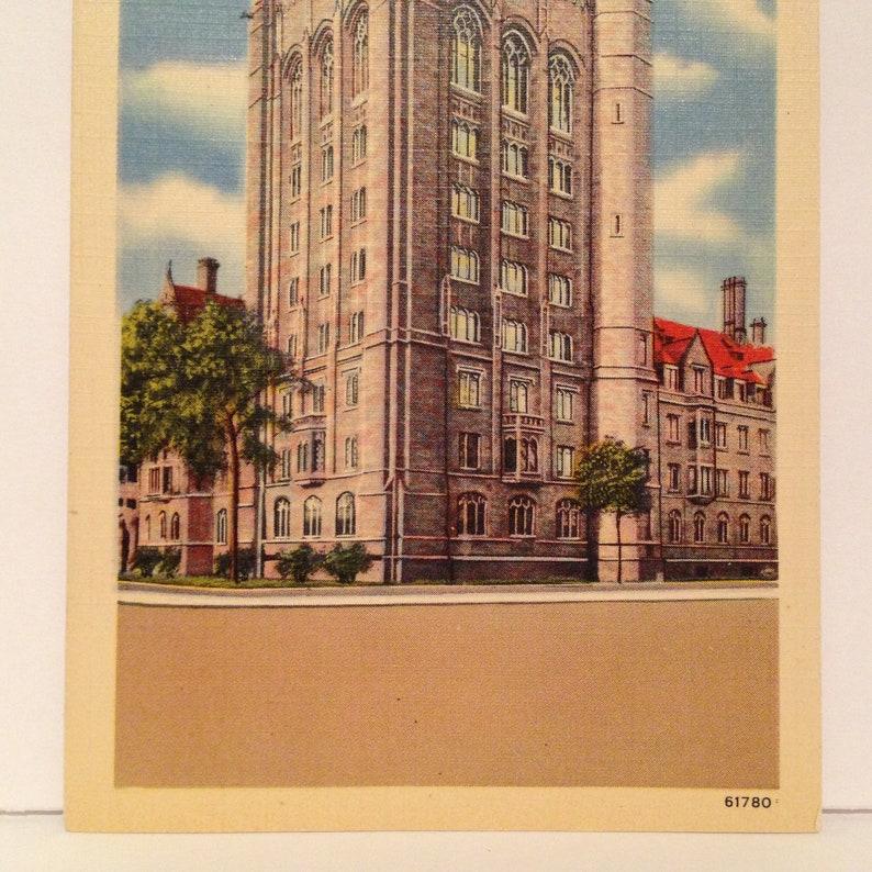 ON SALE New Haven Connecticut CT Yale University Bingham Hall Old Vintage 1940/'s Linen Souvenir Postcard Ephemera