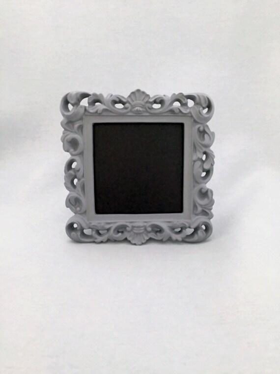 Ornate Chalkboard Frame Grey Wedding Sign Table Number Framed | Etsy