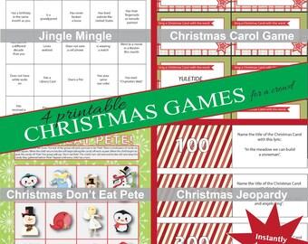 printable christmas - Christmas Jeopardy