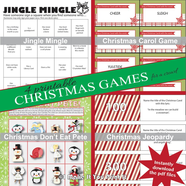 graphic regarding Printable Christmas Games for Adults identified as Printable Xmas Game titles for a Group