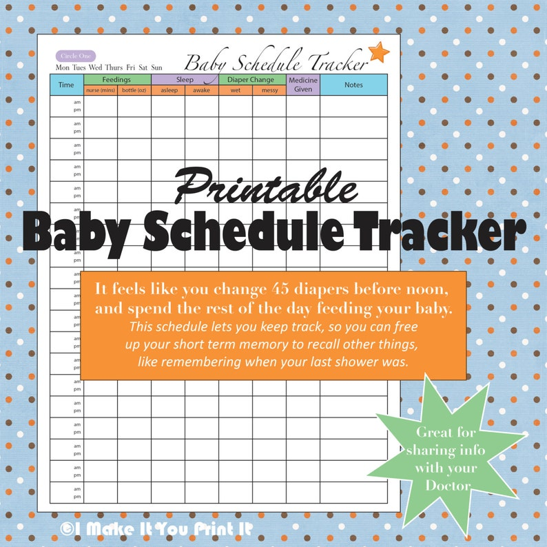 photograph relating to Printable Baby Schedule referred to as Printable Little one Routine Tracker and Twins Plan Tracker