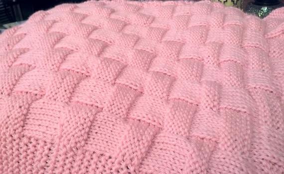 REALISTISCHE Korbgeflecht Strickmuster In Baby-Decke oder   Etsy
