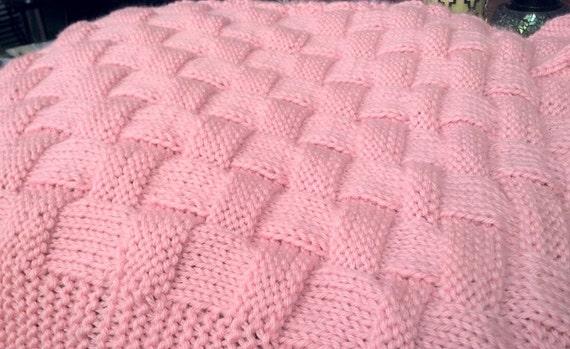 Realistic Basket Weave Knit Pattern In Baby Blanket Or Etsy