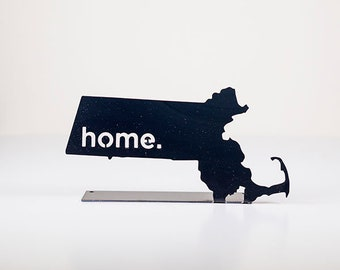 Massachusetts Home State Steel Sign - Metal State Decor