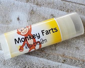 Monkey Farts Natural Lip Balm Novelty Banana Chapstick Fun Lip Balm Flavors For Kids Stocking Stuffer Gift Idea