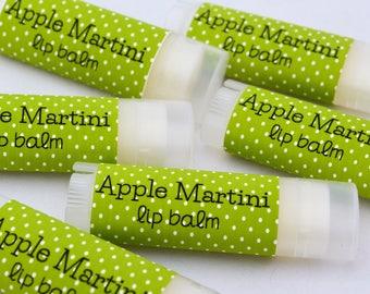 Apple Martini Sweetened Lip Balm, Apple Martini Lip Balm, Apple Martini Chapstick, Natural Lip Balm, Lip Moisturizer, Buttery Chapstick