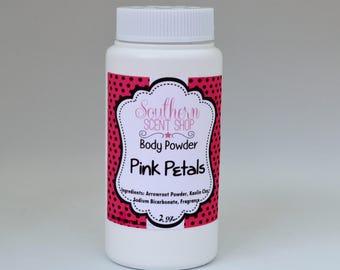 Silky Body Powder - Pink Petals - Dusting Powder - Deodorizing  Body Powder - Talc Free - Vegan Powder - Body Powder - Bath and Body