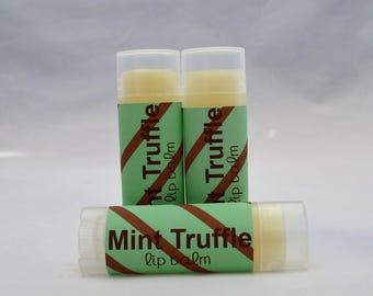 Mint Truffle Lip Balm, Mint Truffle Chapstick, Mint Lip Balm, Mint Chapstick, Mint Truffle, Mint Truffle Lip Butter, Organic Chapstick
