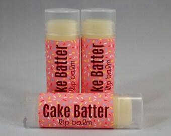 Cake Batter Lip Balm Chapstick White Butter Moisturizer