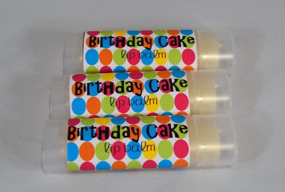 Birthday Cake Lip Balm Chapstick White